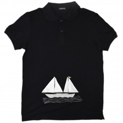 POLO IN COTTON WITH BOAT...